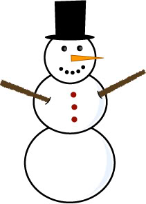 simple snowman easy to draw